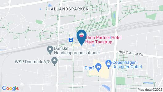 Zleep Hotel Høje Taastrup Map