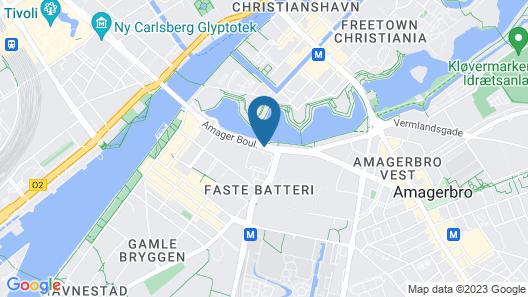 Radisson Blu Scandinavia Hotel, Copenhagen Map