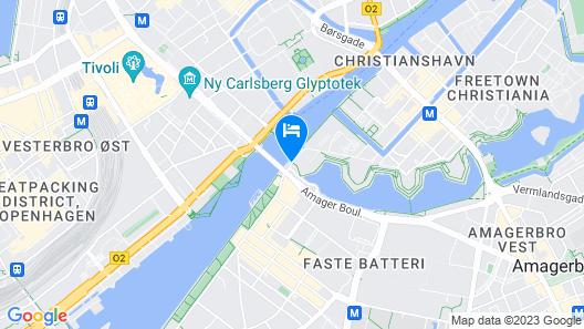 Copenhagen Houseboat Map