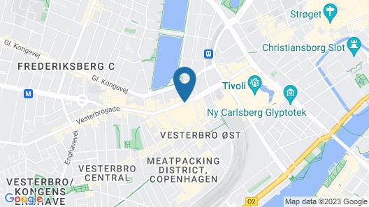 Comfort Hotel Vesterbro Map
