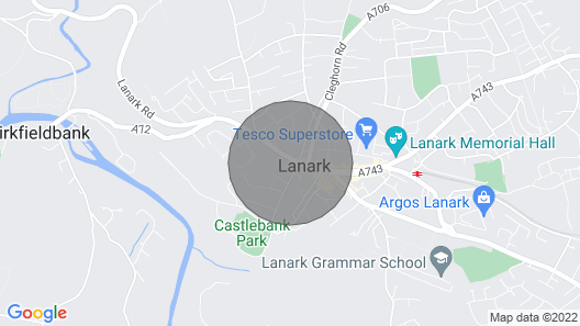 Cosy Apartment 1 - Lanark Town Centre Map