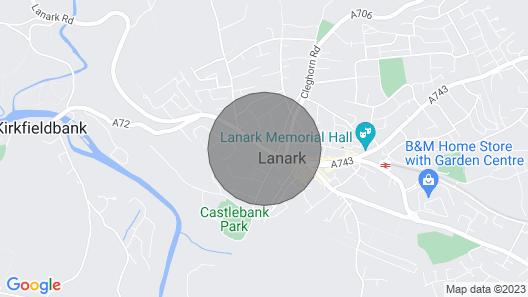Cosy Apartment 2 - Lanark Town Centre Map