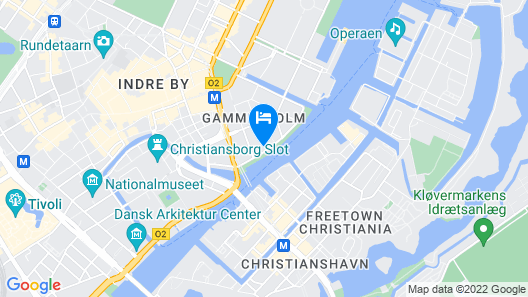 The Huxley Copenhagen, BW Premier Collection Map