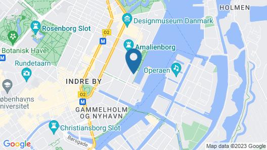 Copenhagen Admiral Hotel Map