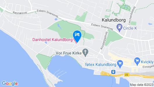 Danhostel Kalundborg Map