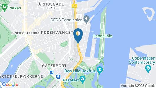 Adina Apartment Hotel Copenhagen Map