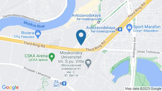 City crown Apartaments Map