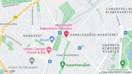 a&o Copenhagen Norrebro Map