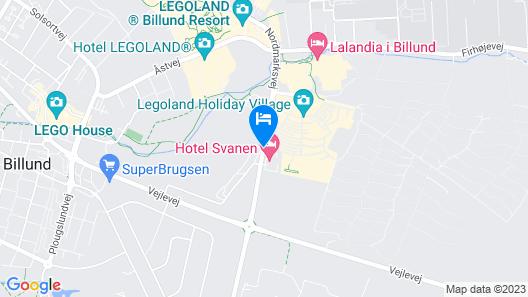 Hotel Svanen, Billund Map