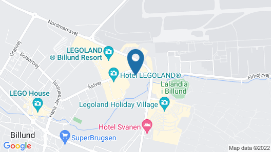 LEGOLAND Castle Hotel DENMARK Map