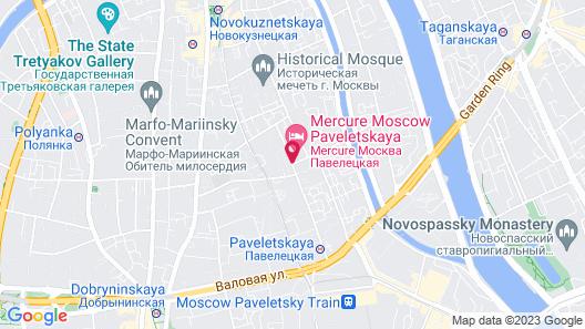 ibis Moscow Centre Bakhrushina Map