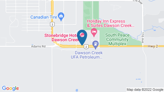 Holiday Inn Express & Suites Dawson Creek Map