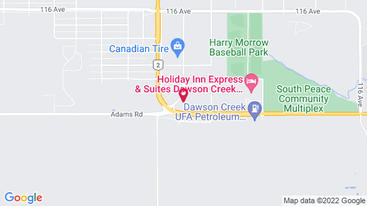 Pomeroy Inn & Suites Hotel Dawson Creek Map