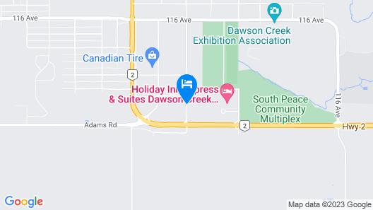 Stonebridge Hotel Dawson Creek Map