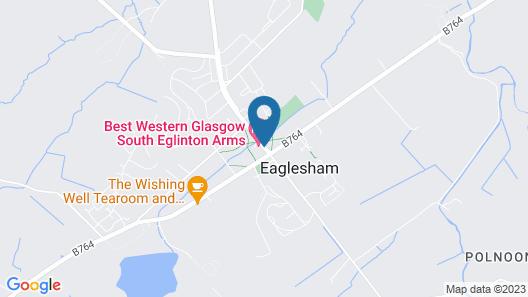 Best Western Glasgow South Eglinton Arms Hotel Map