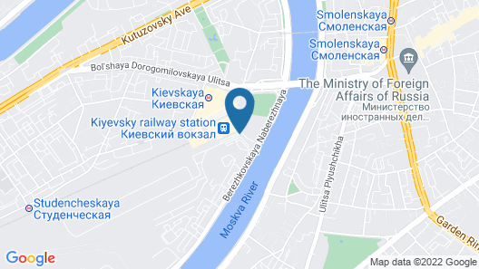 Radisson Slavyanskaya Hotel and Business Centre, Moscow Map