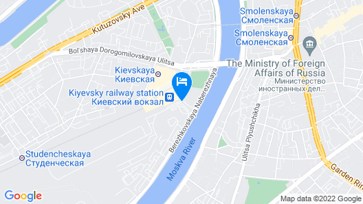 Radisson Slavyanskaya Hotel and Business Centre, Moscow Map