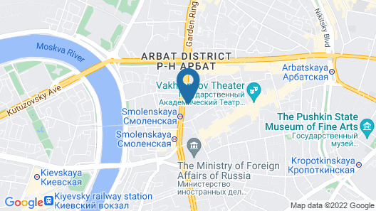 AZIMUT Hotel Smolenskaya Moscow Map