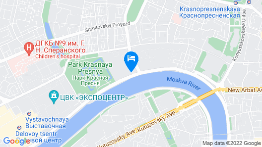 Crowne Plaza Moscow World Trade Centre, an IHG Hotel Map