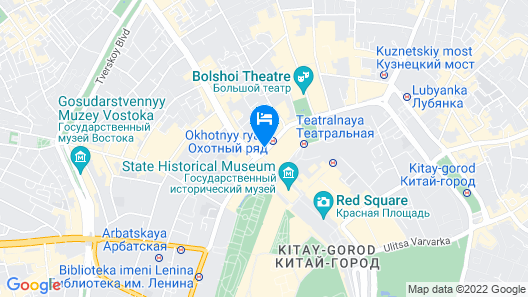 Four Seasons Hotel Moscow Map
