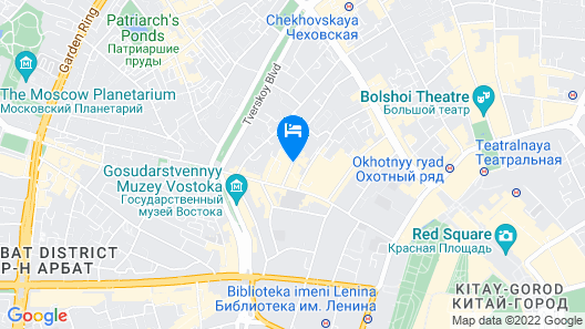 Courtyard by Marriott Moscow City Center Map