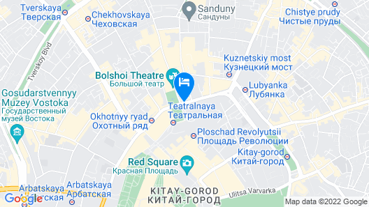Hotel Metropol Moscow Map