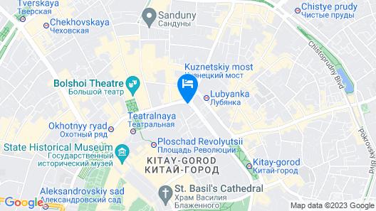 The St. Regis Moscow Nikolskaya Map