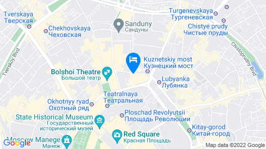 Hotel Savoy Moscow Map