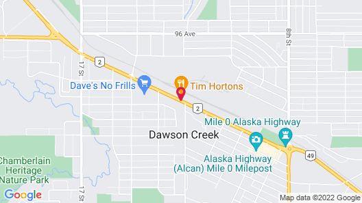 Central Motel & RV Park Map