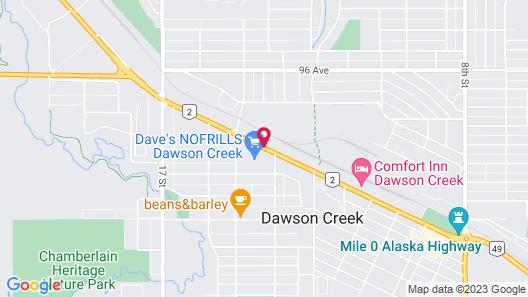 Super 8 by Wyndham Dawson Creek Map