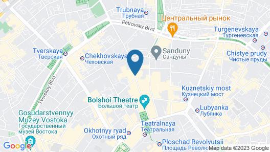 Marriott Moscow Royal Aurora Hotel Map