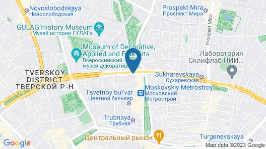Custos Hotel Tsvetnoy Boulevard Map