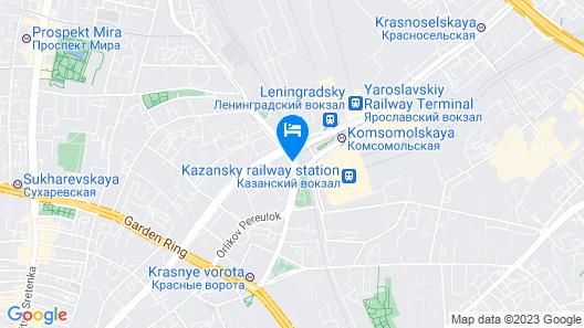 Hilton Moscow Leningradskaya Map