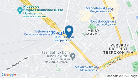 Moscow Marriott Tverskaya Hotel Map