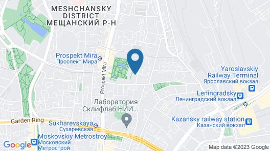 Garden Embassy Hotel Moscow Map