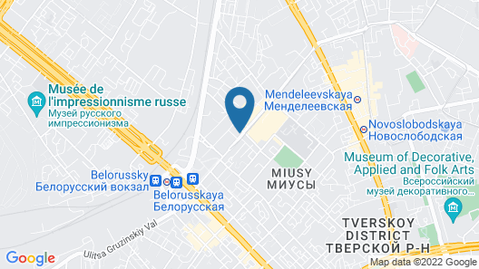 Holiday Inn Moscow-Lesnaya, an IHG Hotel Map