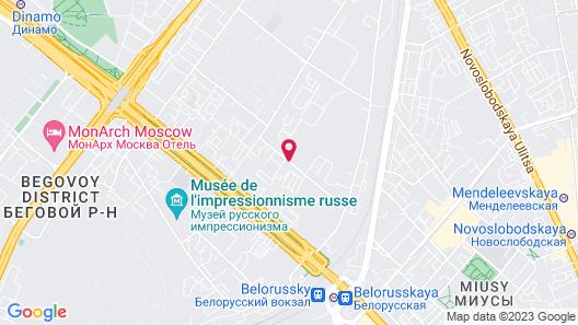 Radisson Blu Belorusskaya Hotel Map