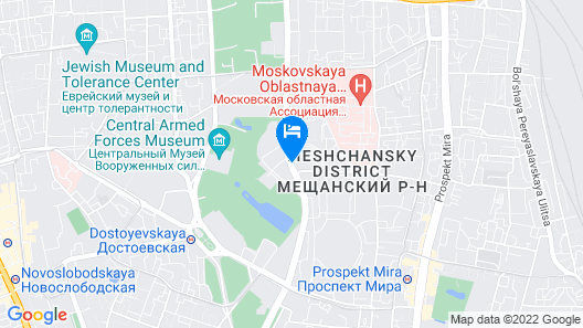AZIMUT Hotel Olympic Moscow Map