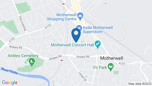 Klass Living - Anderson Apartment, Motherwell Map
