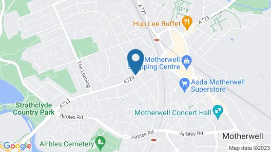 Best Western Motherwell Centre Moorings Hotel Map