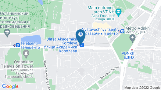 Apartment - Artsymovicha 5k1 Map