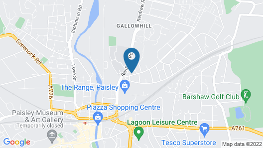 ByEvo Glasgow Airport Apartment 6 Map