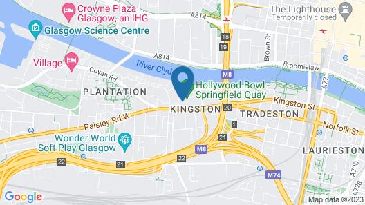 ibis budget Glasgow Map