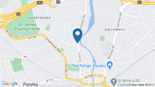 Glasgow Airport Apartments Map