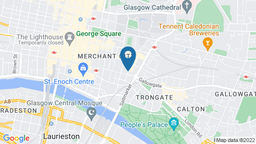 Fraser Suites Glasgow Map