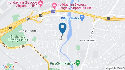 Motel Air - Glasgow Airport Map