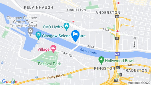 Hilton Garden Inn Glasgow City Centre Map