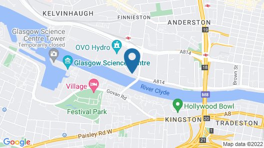 Hilton Garden Inn Glasgow City Centre Map