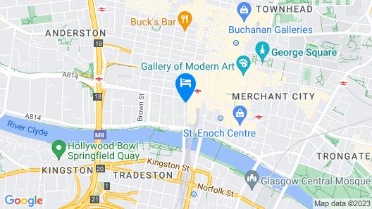Motel One Glasgow Map