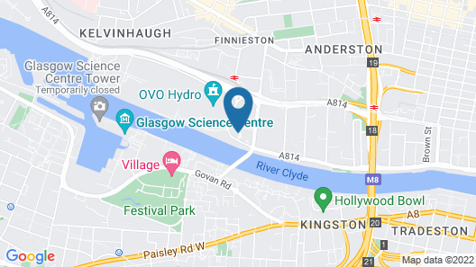 Radisson RED Glasgow Map